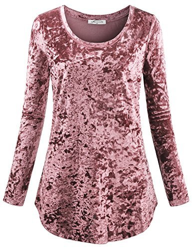 - SeSe Code Fit Tunic Tops Women Ladies Fashion Beauty Shirts Popover Velour Vintage Autumn Cute Outfits Trendy Fresh Figure Flattering Flowy Knitted Pullover Top Pink M