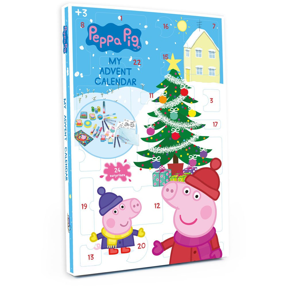 Peppa Pig DARP-CPEP086 Christmas Advent Calendar with 24 Surprises Darpeje