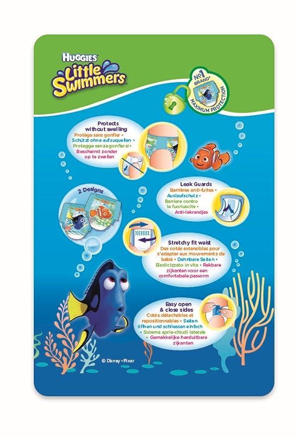 HUGGIES Little Swimmers desechables Bombón nadar, tamaño 5 - 6, 36 unidades: Amazon.es: Salud y cuidado personal