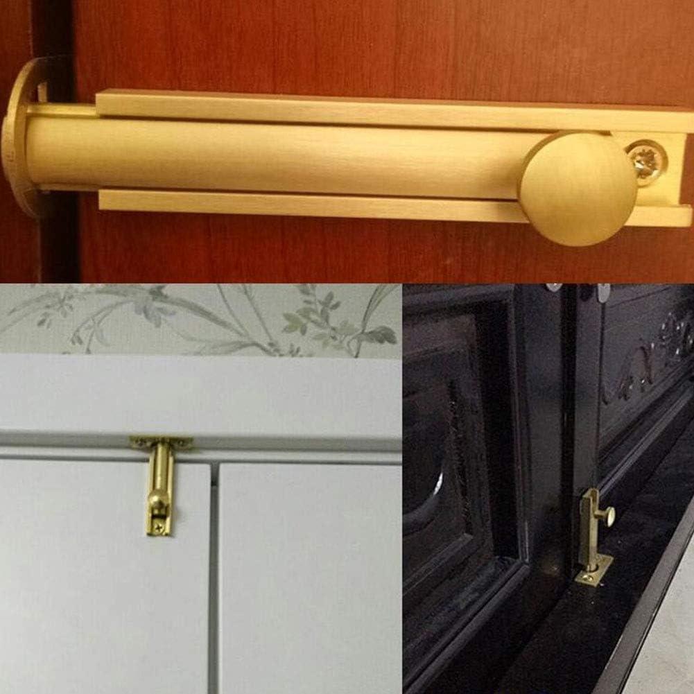 Heavy Duty Gate Security Lock Latch Color : Brushed gold, Size : 8 inch 4 MUMA Retro Latch Brass Surface Slide Door Bolt Lock 100mm