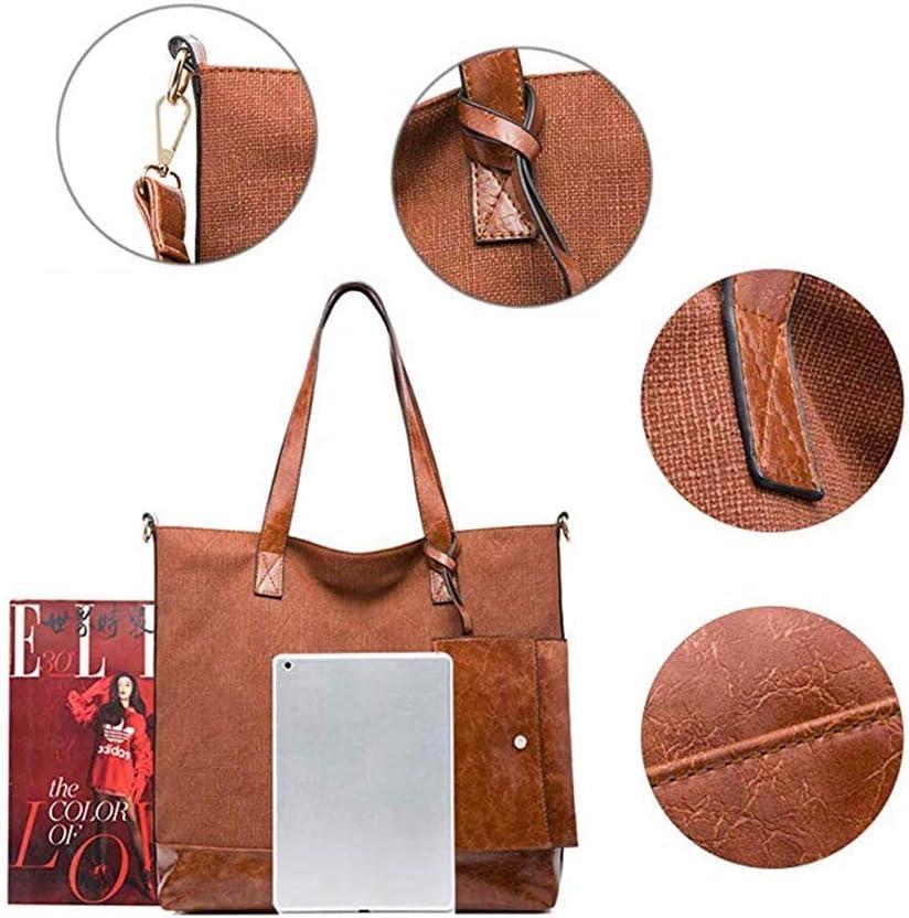 OhLt-j Borse for Le Signore, Ecopelle Grande Spalla Borsa 15.6inch Laptop Bag con Cinghia a Lungo for la Scuola Lavoro Viaggi Shopping (Colore Rosa) (Color : Pink) Black