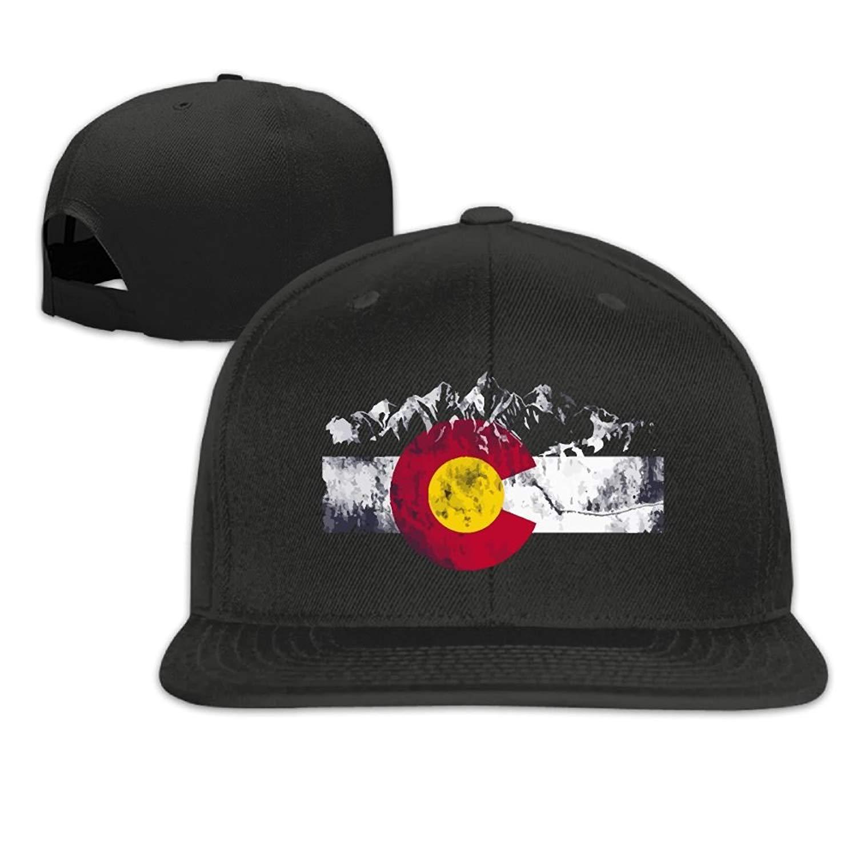 Abbigliamento sportivo Wfispiy Colorado Flag Moutain Flat Bill Brim Regolabile Snapback Hats Caps Berretto da Baseball per Uomo Donna X1547