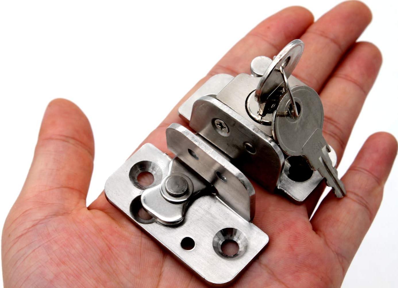 Con cerradura con llave, cerradura de privacidad de acero inoxidable resistente cerradura de seguridad