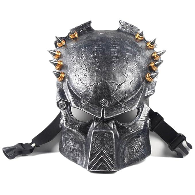 MHSXN Máscara De Resina Artesanal Película Temática Guerrero Irregular Jagged Solitario Máscara De Hierro Neutro,Bronze-S: Amazon.es: Ropa y accesorios