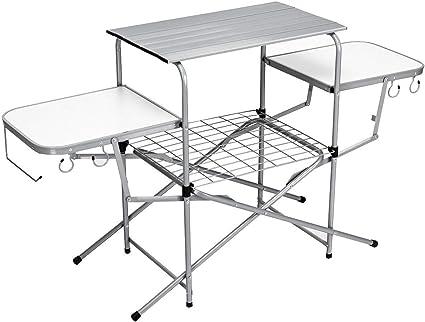 Portable Handle 2FT Folding Camping Table Garden Travel Party Festival BBQ Desk