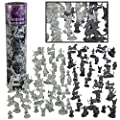 Fantasy Creatures Action Figure Playset - 90pc Monster Battle Toy Collection (Includes Dragons, Wizards, Orcs, and more) - Perfect for Roleplaying and D&D Gaming