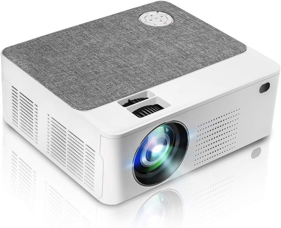 Mini proyector portátil con 5500 lúmenes, 1280 x 800p, LED, proyector LCD de cine en casa de 200 pulgadas, compatible con 1080P, compatible con PC, teléfono, PS4, X-Box