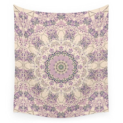 Cream Tapestry - Society6 47 Wisteria Circle - Vintage Cream And Lavender Purple Mandala Wall Tapestry Small: 51