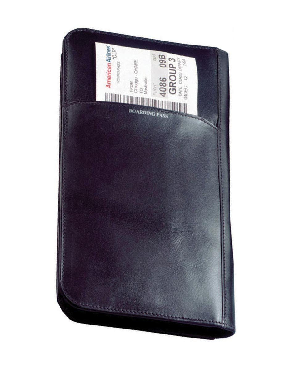 Brown Closure No Magnetic Snap Winn International 6470 1GAXHSN059********************** Cowhide Nappa Leather Passport Travel Organizer Color