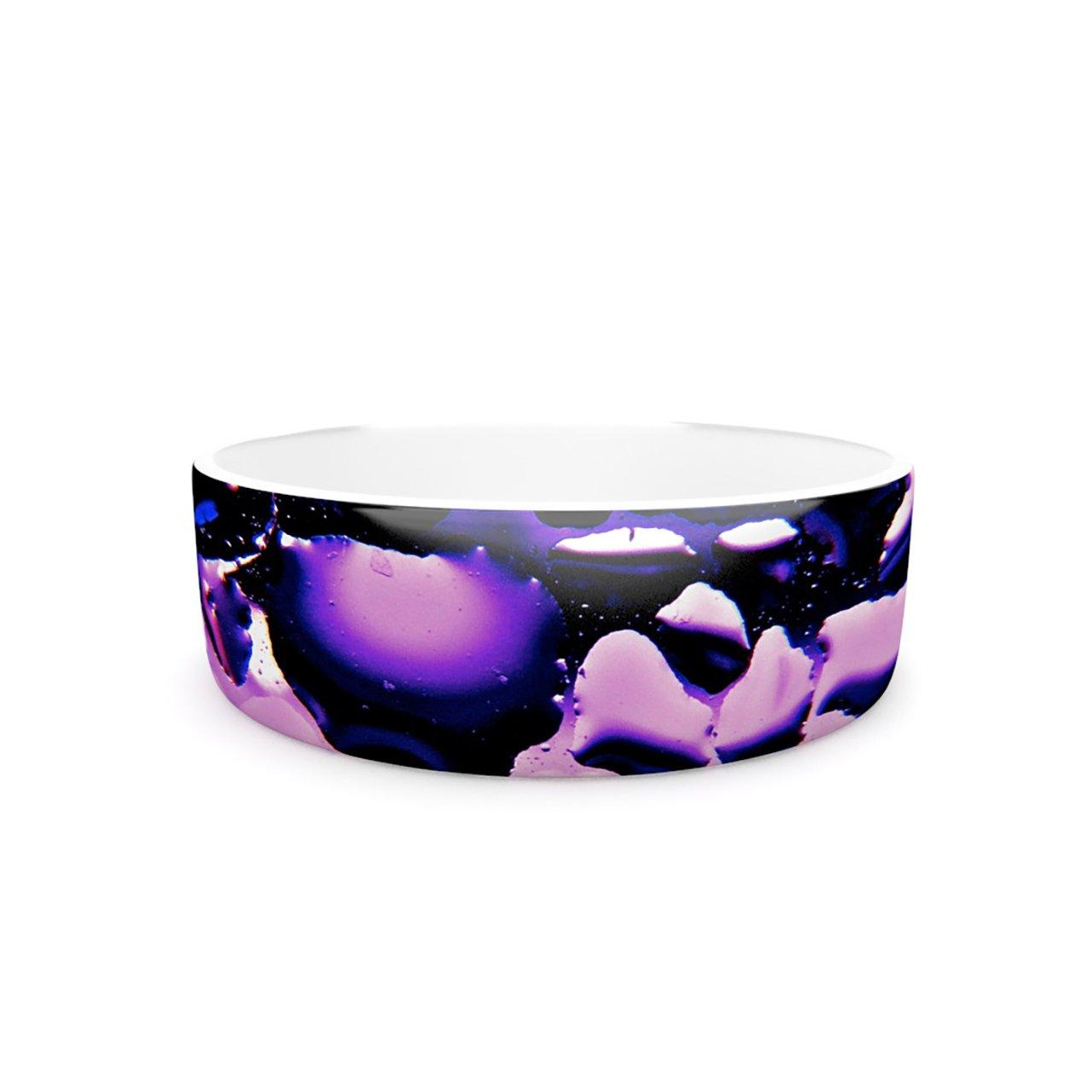 Kess InHouse Maynard Logan Window Purple  Pet Bowl, 7-Inch