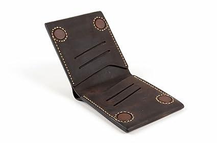 Cartera de piel natural artesanal accesorio para hombre regalo original
