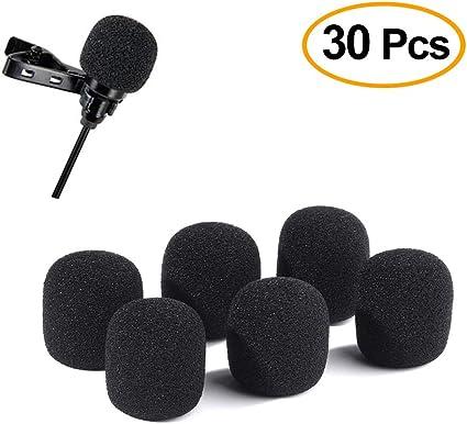 eBoot Lapel Headset Microphone Windscreens 15 Pack Mini Size Foam Covers