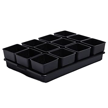 Creativo Maceta Suculentas Set de Bandejas de Plástico Planta de Maceta de Plástico Contenedor Maceta de