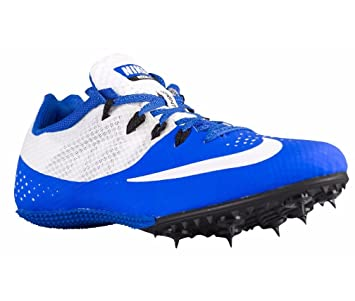 Nike Zoom Rival S 8 Mens Size 12 Running Cleats Spikes Racer Blue White