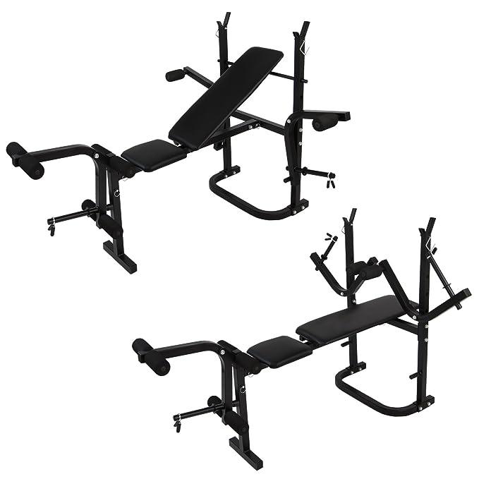 Multiestación de Fitness Aparato Gimnasio rebatible de BB Sport Banco de Musculación y Juego de Mancuernas: Amazon.es: Deportes y aire libre