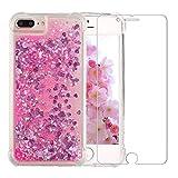 iPhone 7 Plus/8 Plus Glitter Case, NOKEA Luxury Fashion Flowing Liquid Floating Sparkle