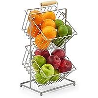 EZOWare 2-poziomowy koszyk na owoce, wiszący kosz kuchnia produkty blat stojak - organizer do przechowywania owoców…