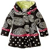 Widgeon Little Girls' Hooded Swirl and Twirl Coat, Circles, 6X