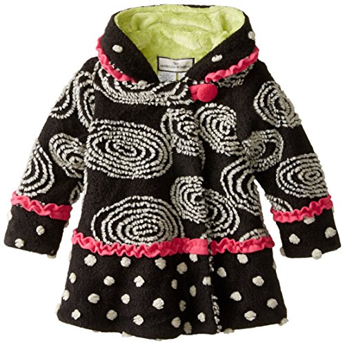 Widgeon Little Girls' Hooded Swirl and Twirl Coat, Circles, 6X by Widgeon