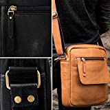 Karriel Casual Leather Tablet Messenger Bag
