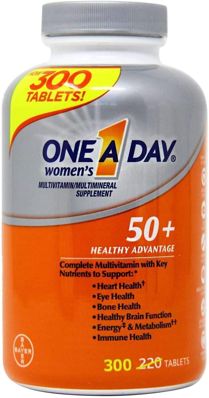One A Day Women, Mulher 50+ (300 Tabs) Multivitaminico Bayer