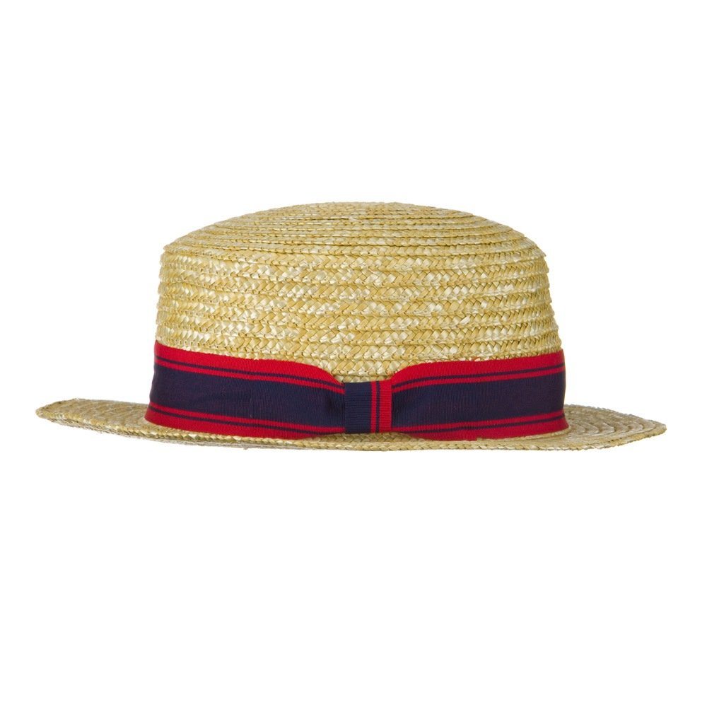 4f673841d Jeanne Simmons Boy's Vintage Straw Boater Hat - Natural OSFM: Amazon.ca:  Clothing & Accessories