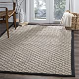 Safavieh Four Seasons Collection FRS652A Ivory and Black Area Rug, 5′ x 8′ For Sale