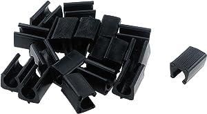 Antrader Furniture Feet Plastic Non-Slip Chair Legs Tips Caps Cover Pads Set Pack of 20 (14mm, Black)