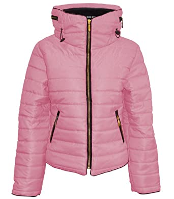 4f2b8964f447 Kids Girls Quilted Puffer Jacket (Baby Pink