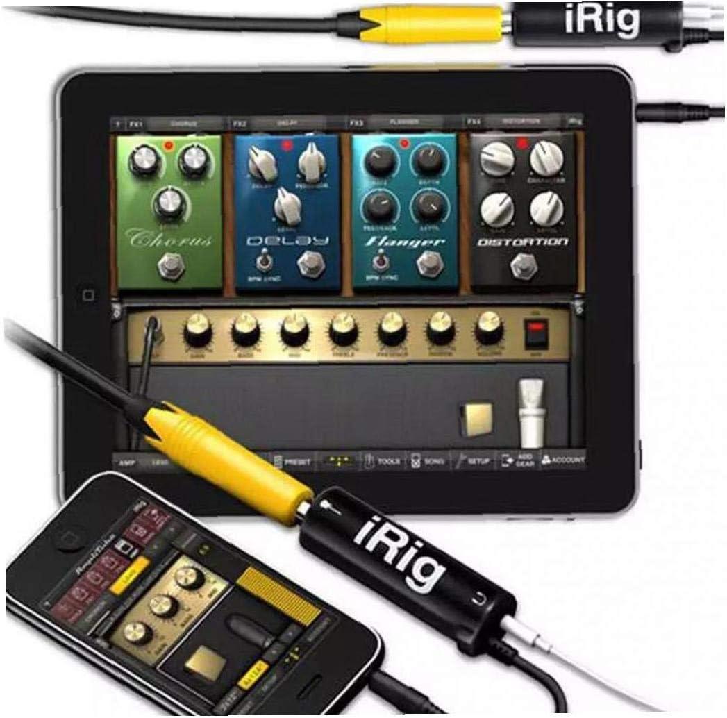 xiaocheng Adaptador De Reemplazo Interfaz De La Guitarra del Irig Convertidor Negro para El Tel/éfono Guitarra Interfaz De Audio 5pcs para Ni/ños Y Adultos