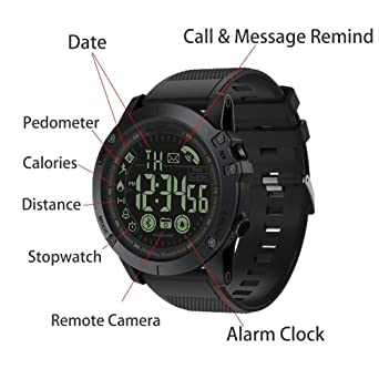 Amazon.com: Digital Sports Smart Watch Military Grade Super Tough Outdoor Sports Talking Watch Waterproof Pedometer Calorie Counter Multifunction Bluetooth ...