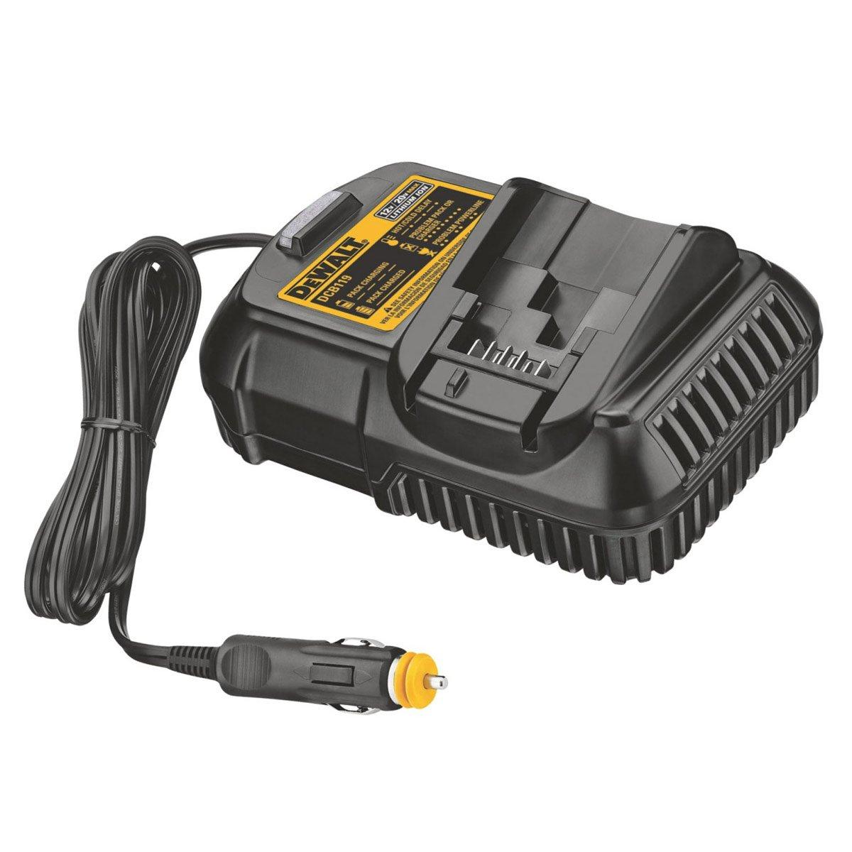DeWalt Lithium Ion Car Battery Charger for 10.8V/ 14.4V/ 18V XR Batteries 1.5Ah or 3Ah DCB119-XJ