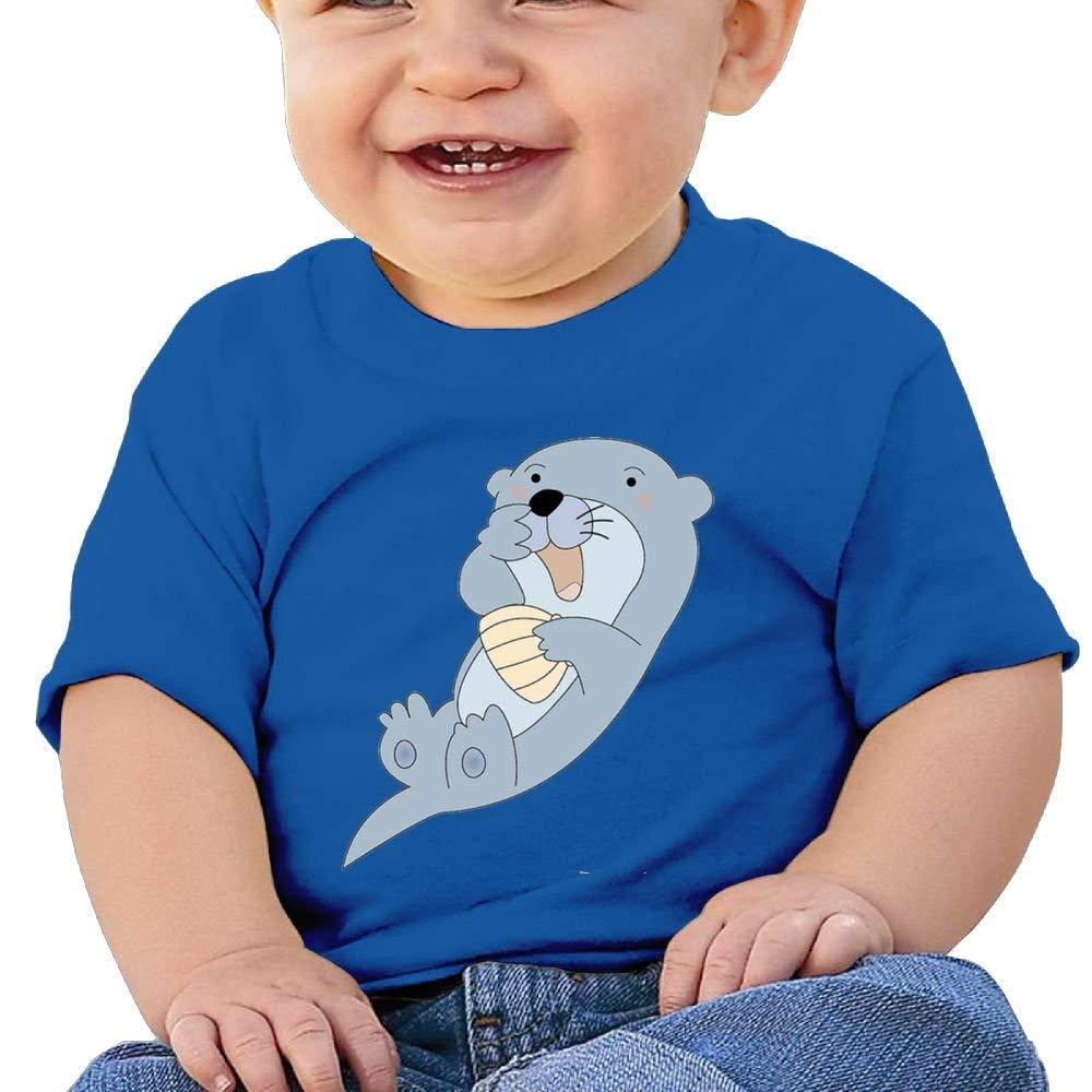 Short Sleeve T-Shirts Cartoon Otter Birthday Day 6-24 Months Baby Boys Infant