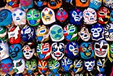 Poster Foundry Mexican Wrestling Masks on Display San Francisco Photo Print Stretched Canvas Wall Art 24x16 inch