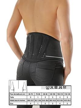 9dbf3ff7f4f Gibaud Lombogib Underwear Ceinture Lombaire Noire 26 cm - Taille 0   Amazon.fr  HygiÚne et Soins du corps