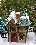 Miniature Fairy Garden House Victorian Village Christmas Hotel Inn W Led Light