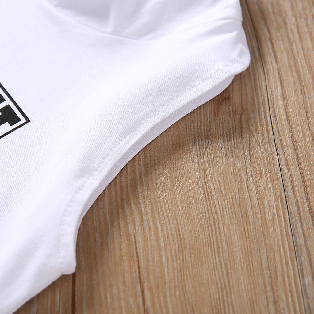 AIni Baby Kleidung Sommerkleid Mode Elegant Kleinkind Baby M/ädchen Kind Sleeveless Brief Gedruckte Hoodies Tops T-Shirt Kleidung Beil/äUfiges Strand Party Kleidung