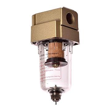 Unidad de mantenimiento de aire comprimido filtro Filtro de aire comprimido 1/4 para compresor: Amazon.es: Bricolaje y herramientas