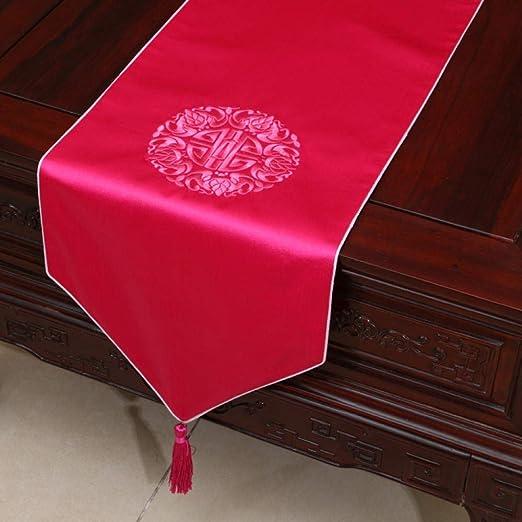 Camino De Mesa,Rojo Brillante Vintage Clásico Chino Exquisitos ...