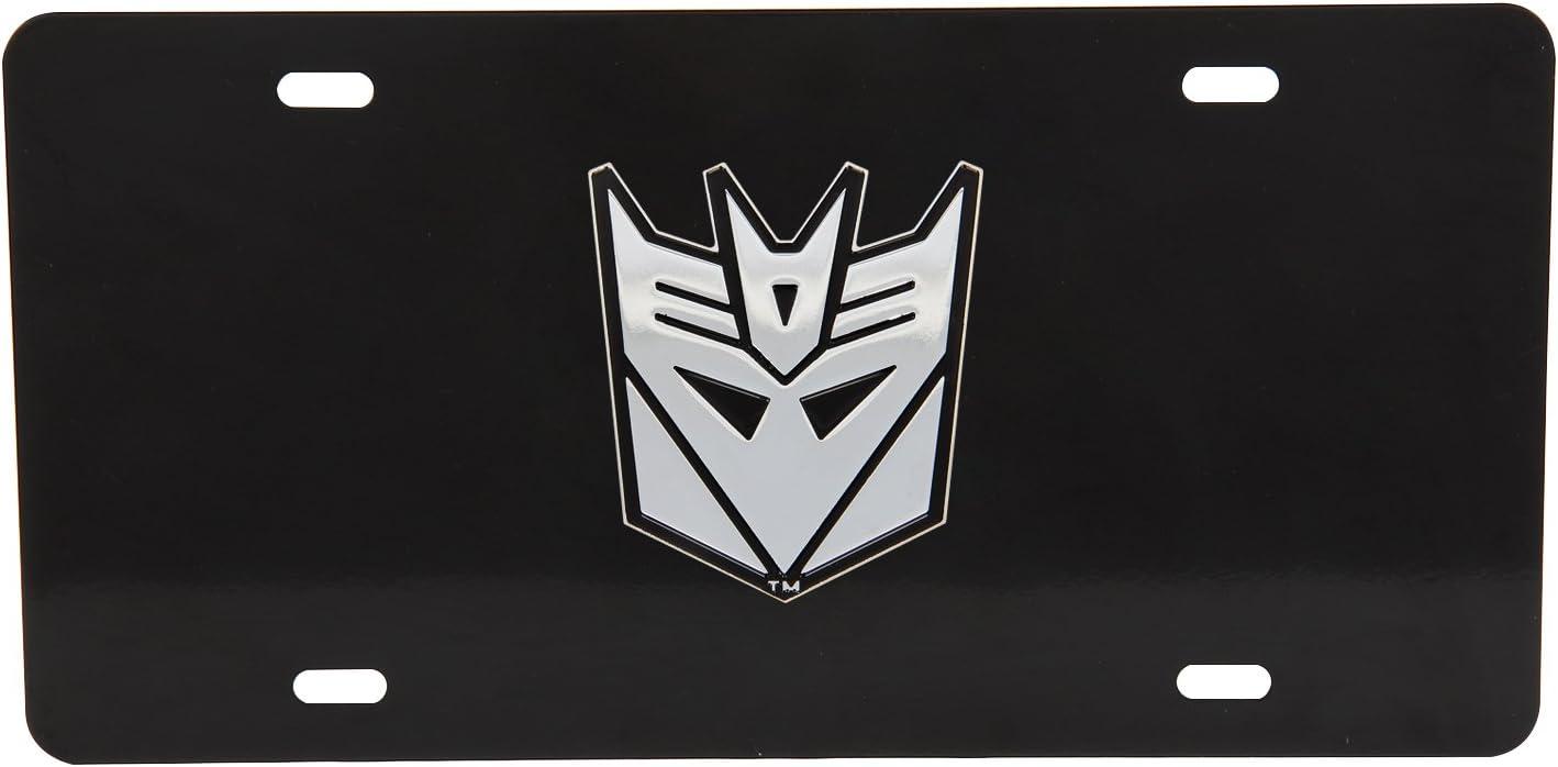 1 BRAND NEW 3D Transformers Logo VANITY BLACK STEEL LICENSE PLATE DECEPTICON 4