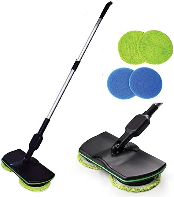 Inalámbrico Eléctrico Rotary Mop Limpieza Handheld Spinning Mop ...
