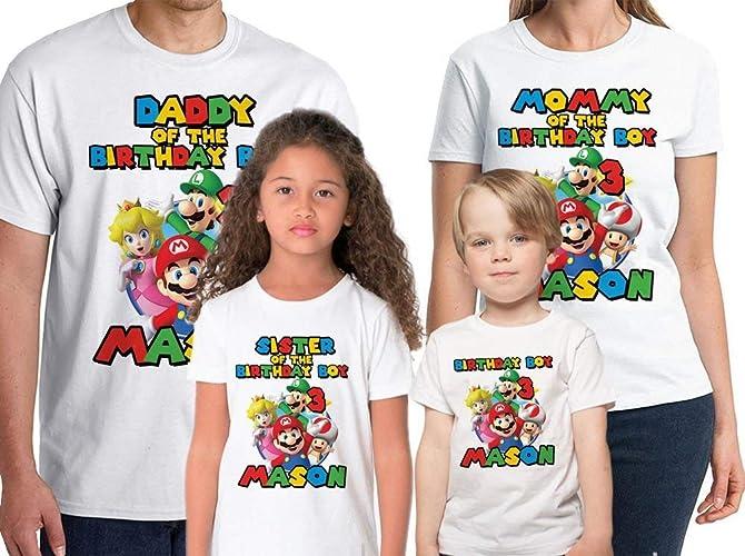 Amazon Super Mario Shirt Custom Birthday Personalized Name And Age T Handmade