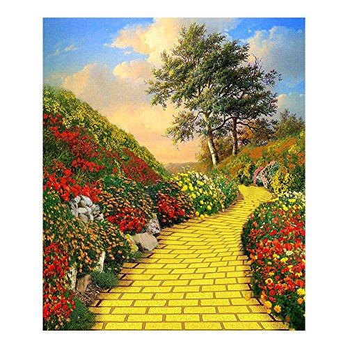Photography Backdrop - Yellow Brick Road. Seamless Fabric