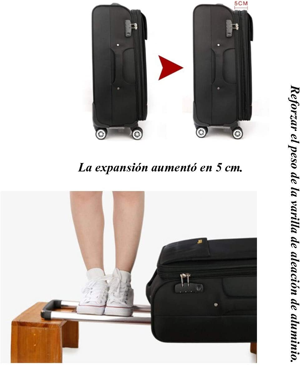 Color : Black Mihaojianbing 24 Inch Suitcase Large Capacity Password Color Black Red Purple Size 66 41 26 cm
