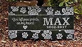 12 x 6 Engraved Granite Cat or Dog Memorial