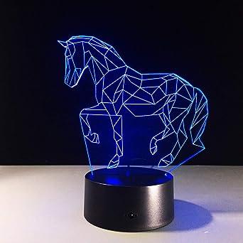 wangZJ 3d luz de la noche llevó la lámpara de ilusión óptica / 7 ...