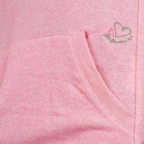 Mujer Para Melange Sudadera Capucha Con Pink Ragwear A01Pqx
