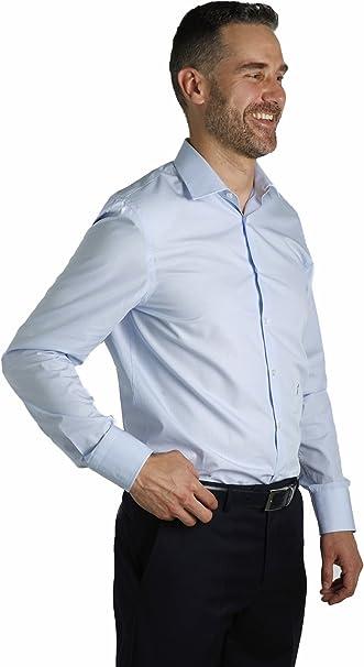Enrique Pellejero Camisa de Vestir Celeste (40): Amazon.es: Ropa ...