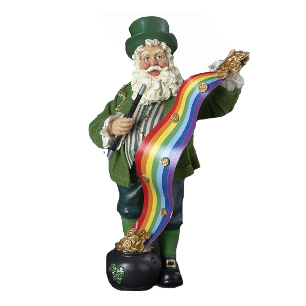 Kurt Adler 10-Inch Irish Magic Santa