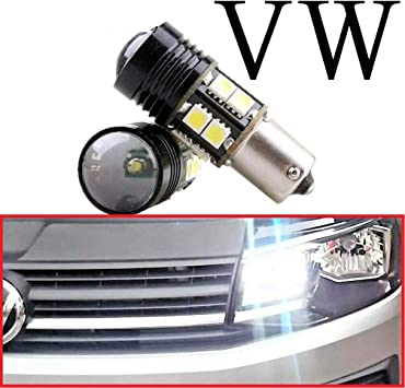 VW CADDY LED XENON COOL WHITE DRL DAYTIME RUNNING LIGHT BULBS CANBUS ERROR FREE
